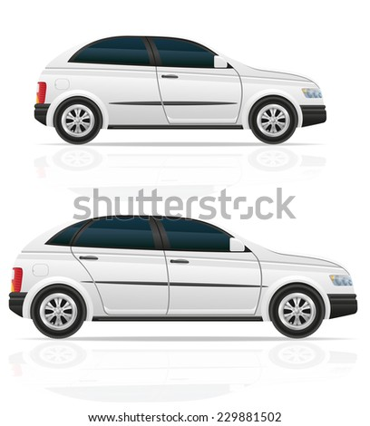 car hatchback vector illustration isolated on white background - stock vector