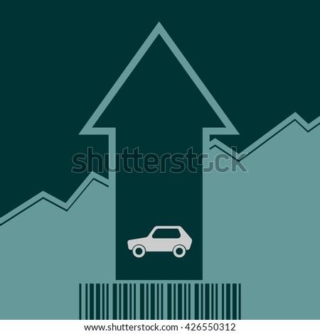 car icon rise arrow growth diagram stock vector 426550312 shutterstock rh shutterstock com
