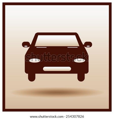Car  icon. - stock vector