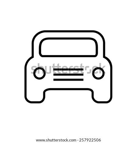 Car icon outline - stock vector