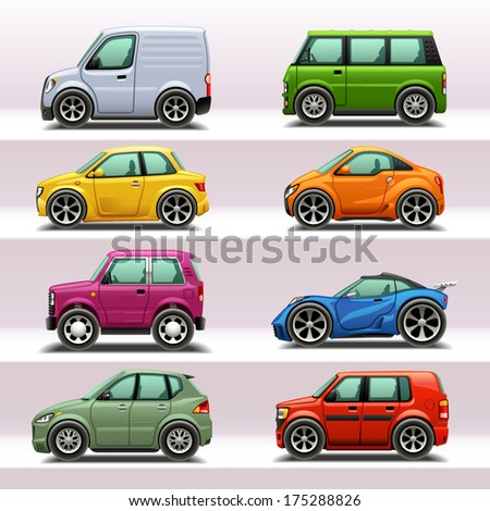 car icon set-4 - stock vector