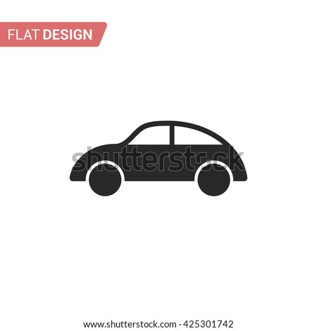 Car icon. Silhouette car. Car isolated on background - stock vector