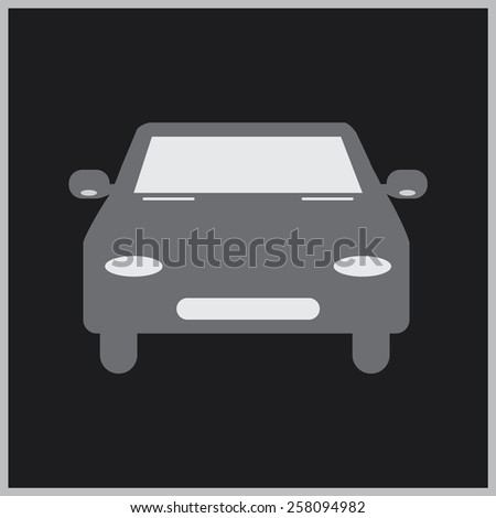 car icon, vector illustration - stock vector