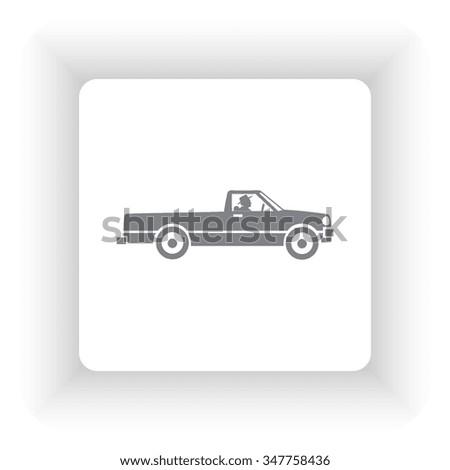 Car icon, vector illustration. - stock vector