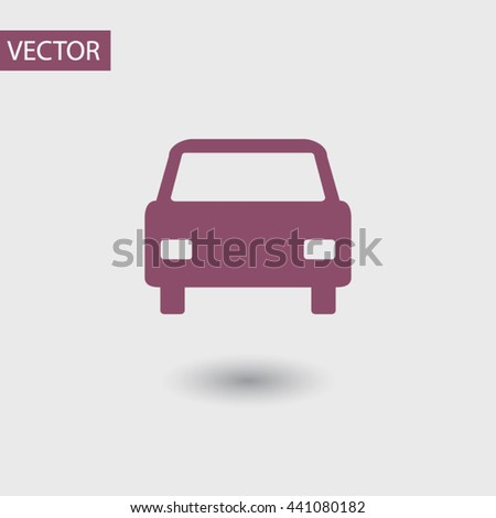 Car icon, vector illustration. Flat design style