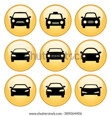car icons set stock vector 109520780 shutterstock. Black Bedroom Furniture Sets. Home Design Ideas