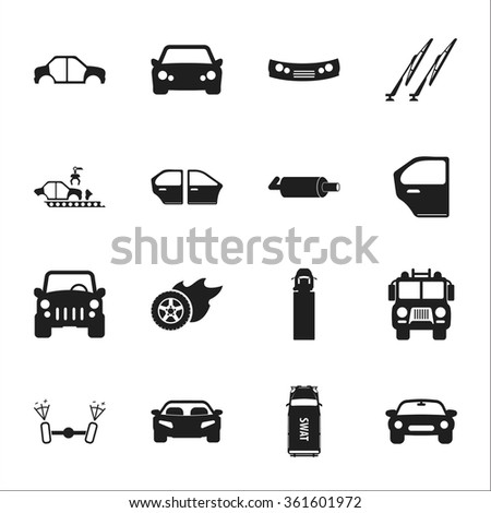 Car icons set.