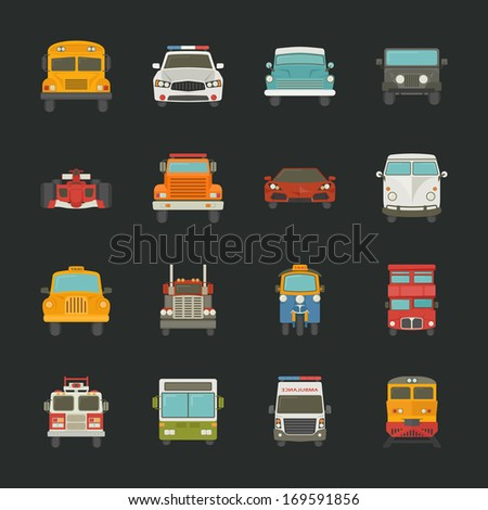 Car icons , transport , eps10 vector format - stock vector