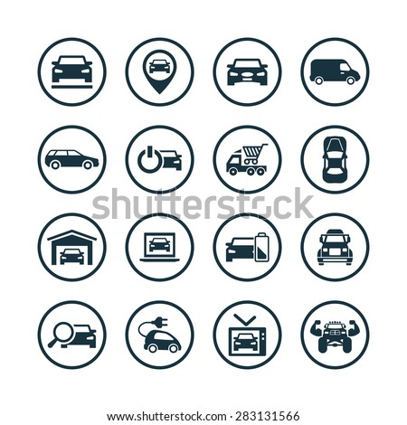 vector black car wash icons set stock vector 173757389 shutterstock. Black Bedroom Furniture Sets. Home Design Ideas