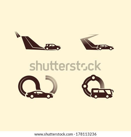Car icons. Vector format  - stock vector