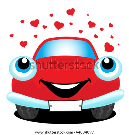 Car in love - stock vector