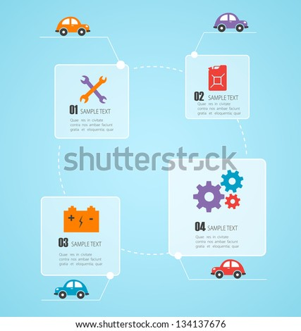 Car info graphic. Vector - stock vector