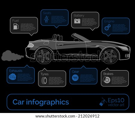 Car infographics. Vector illustration - stock vector