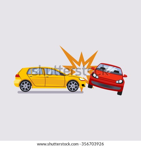 Car Insurance and Accident Risk Colourful Vector Illustration  - stock vector