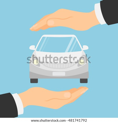 Car insurance concept. Insurance company. Guaranty of preservation, repair and protection.
