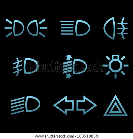 car interface symbols icon set car stock vector 183518858 shutterstock