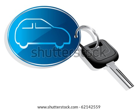 Car key ring vector - stock vector
