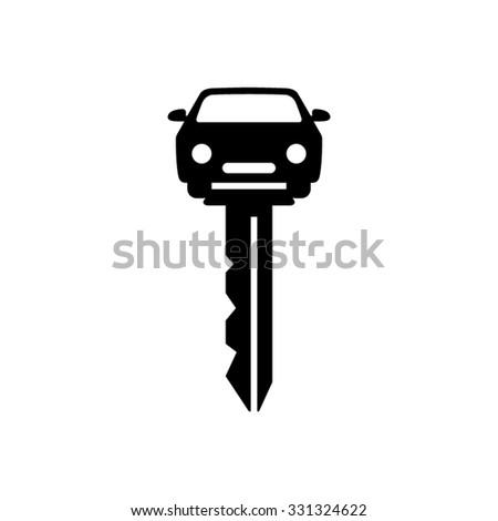car key - vector icon - stock vector