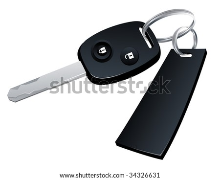 Car key, vector illustration, EPS file included - stock vector