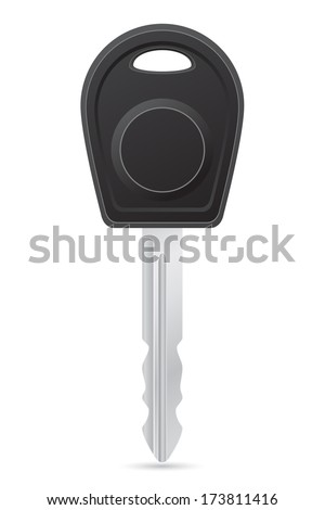 car key vector illustration isolated on white background - stock vector