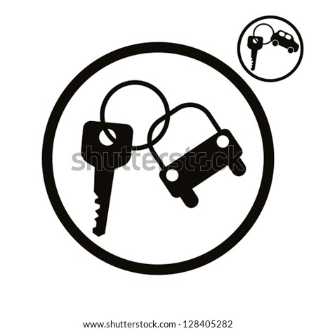 Car key vector simplistic icon. - stock vector