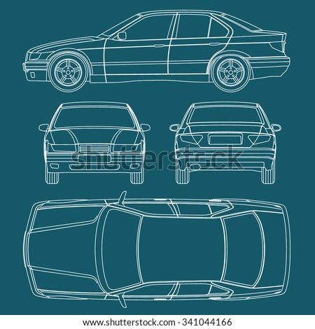 Stock images royalty free images vectors shutterstock car line draw blueprint condition report form vector malvernweather Gallery