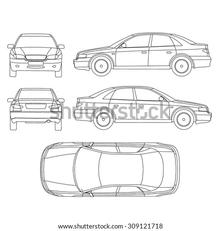 Stock Vector Car Line Draw Insurance Rent Damage Condition Report Form Blueprint also  on 309121718 shutterstock car line draw insurance rent damage
