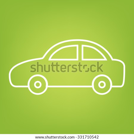 Car  line icon. Vector.
