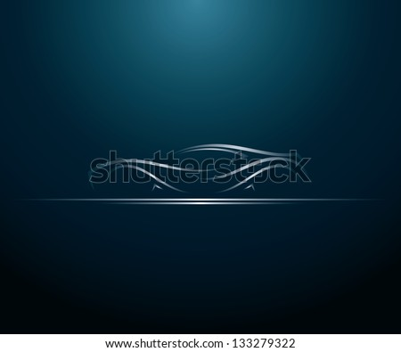 Car lines - vector illustration - stock vector