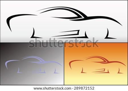 Car logo design - stock vector