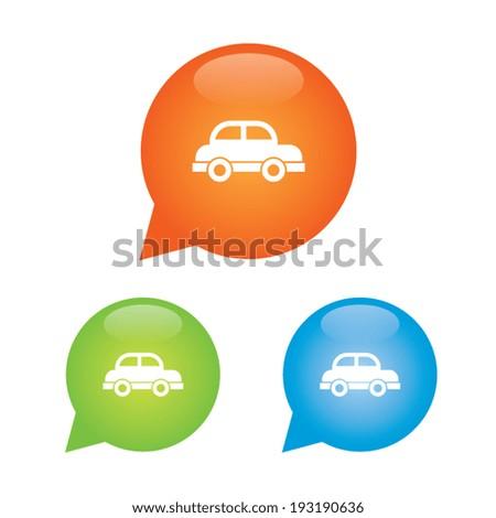 Car Marker Icon - stock vector