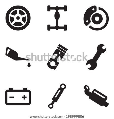 Car Mechanic Icons - stock vector