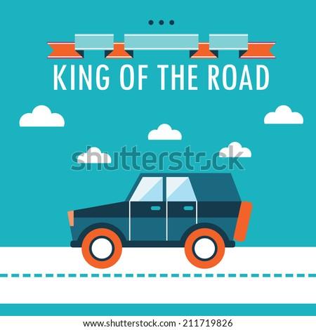 Car on the road... King Of Kings Logo Wallpaper