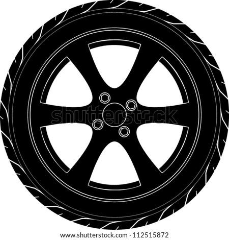 car or truck tire symbol - stock vector