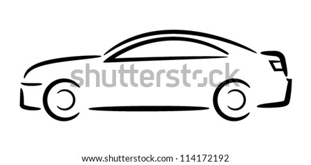 Car Outline. Vector Illustration.