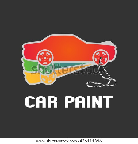 Car paint vector logo template, badge, icon, symbol, design element. Pantone book for car airbrushing and painting - stock vector