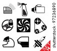 Car part icon set 14. Vector Illustration. - stock vector