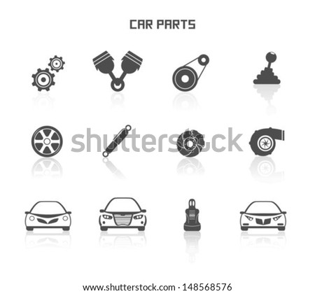 Car parts - stock vector