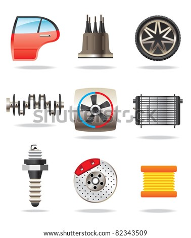 car parts - vector illustration - stock vector