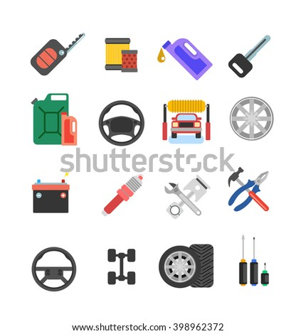 Car parts vector set.