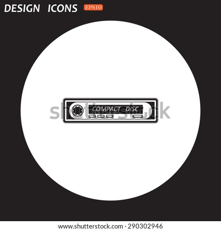 Car radio. Modern Car Audio. icon. vector design - stock vector