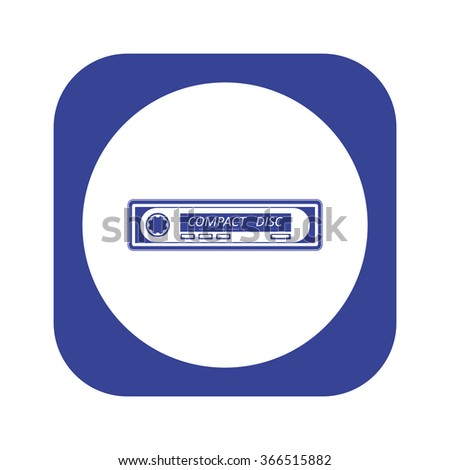 Car radio. Modern Car Audio icon, vector illustration. Flat design style - stock vector