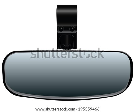 Car Rearview Mirror for additional fastening. Vector illustration. - stock vector