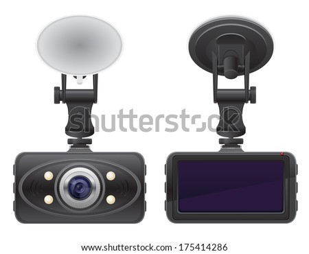 car recorder vector illustration isolated on white background - stock vector