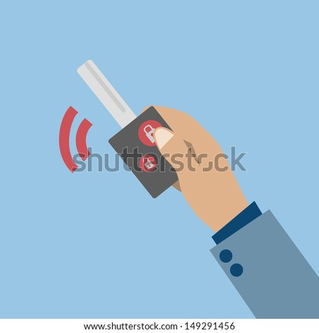 Car remote key - stock vector