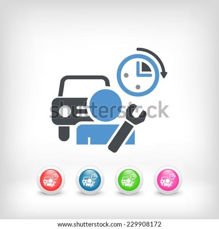 Car repair - stock vector