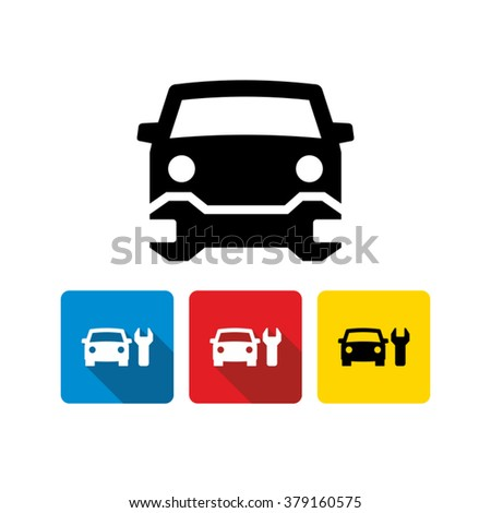 car repair service icon stock vector 2018 379160575 shutterstock rh shutterstock com  car repair vector free download