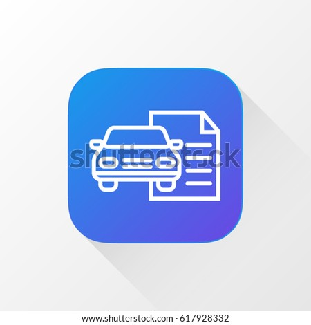 taxi car line flat vector icon stock vector 615709136 shutterstock. Black Bedroom Furniture Sets. Home Design Ideas