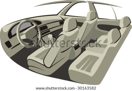 car salon - stock vector