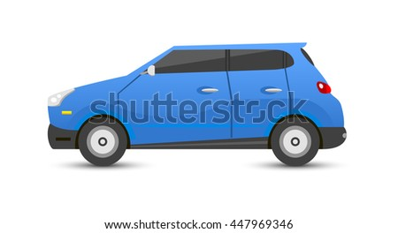 Car sedan vehicle transport type design sign technology style vector